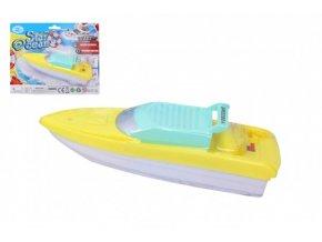 Loď/člun do vody plast 18cm na baterie na kartě
