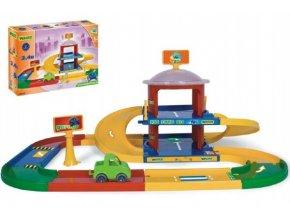Garáž Kid cars 3D 2 patra 3,4 m 90x57cm Wader