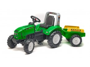 Traktor šlapací Lander 240X s valníkem zelený