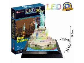 Puzzle 3D Socha Svobody / led - 37 dílků