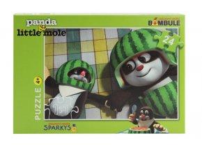 Puzzle Krtek a Panda, 24 dílků