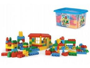Kostky stavebnice Block plast 132ks Wader v plastovém boxu 40x23x35cm