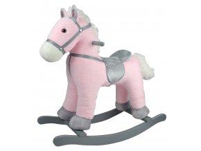 Houpací poník růžový 46 cm