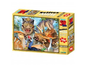 Puzzle 3D 100 dílků safari, dino, žraloci