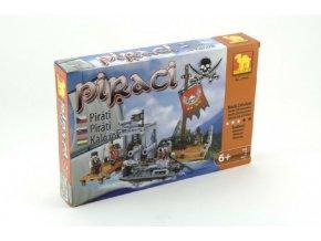 Stavebnice Dromader Piráti 27502 238ks v krabici 32x21,5x5cm