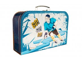 Kufřík Hokej modro/žlutý 35 cm
