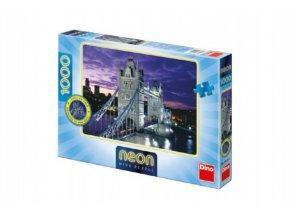 Puzzle Londýn most Tower Bridge svítící ve tmě 66x47cm 1000dílků v krabici
