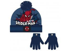 Sada rukavice, čepice s bambulí - Spiderman
