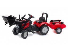 Traktor šlapací Case IH Maxxum 130CVX červený s přední lžící
