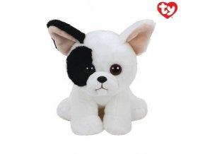 Beanie Boos plyšový pejsek černo/bílý 15 cm