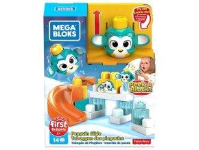 Mega Bloks Peek a Blocks velká skluzavka - tučňák