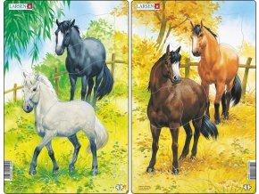 Puzzle Koně 10 dílků