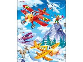 Puzzle Letadla 13 dílků