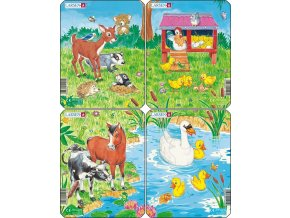 Puzzle Mláďátka roztomilá - 4ks 10 dílků