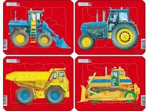 Puzzle Pracovní stroje - 4ks 10 dílků