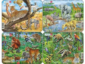Puzzle Exotická zvířata 11 dílků