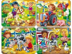 Puzzle U nás DOMA na farmě 9 dílků