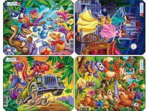 Puzzle mix - princezny, kapela, dino a party 9 dílků