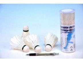 Míčky/Košíčky na badminton péřové 4ks v tubě 6x18x6cm
