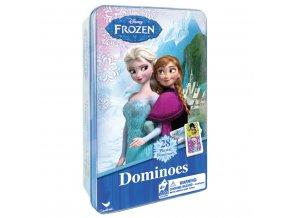 Domino v plechové krabičce Ledové království