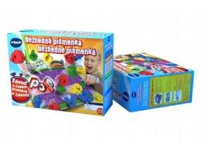 Hra Nezbedná písmenka Vtech plast v krabici 30x23cm