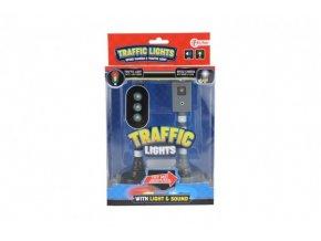 Semafor+radar funkční plast na baterie se zvukem se světlem v krabičce 16x25x6cm