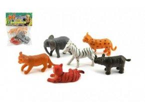Zvířátka mláďata safari ZOO plast 6ks