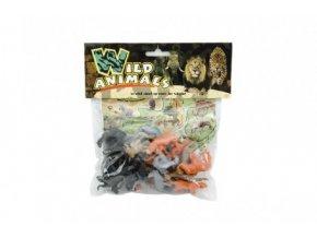 Zvířátko safari ZOO s mapou plast 3-5cm 24 ks