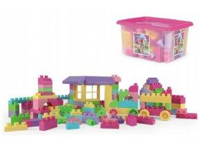 Kostky stavebnice 132ks plast v plastovém boxu pro dívky Wader