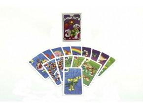 Kvarteto Pojď s námi do pohádky společenská hra - karty v papírové krabičce