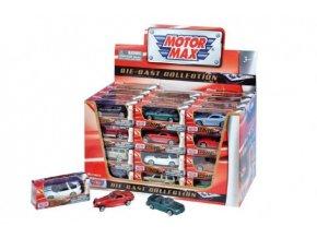 Auto Mini kov 7cm asst 12 druhů v krabičce 4(1 ks)