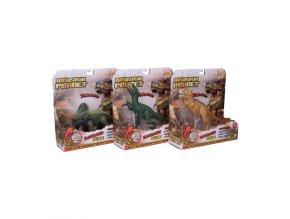 dinosaurus 23 26cm na baterie se svetlem a zvukem 3druhy v krabicce