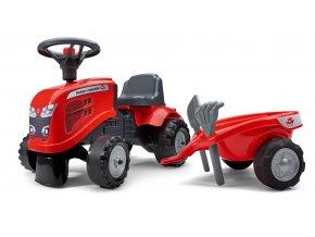 Odstrkovadlo traktor Massey Ferguson červené s volantem a va