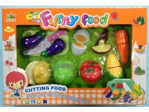 Set potravin na suchý zip zelenina, vajíčko