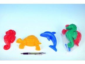 Formičky Bábovky zvířátka plast na písek 3ks v síťce