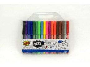 Fixy barevné 18ks v plastovém sáčku 20x18cm