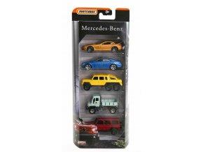 Matchbox Limitovaná edice Mercedes Benz autíčka 5ks