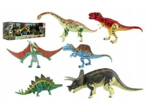 Sada Dinosaurus hýbající se 6ks plast v krabici 48x17x13cm