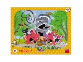 Puzzle deskové tvary Krtek opravář 36x28cm 12 d
