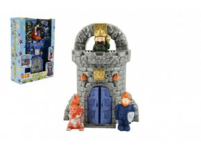 Hrad s figurkami plast - král, rytíř a drak