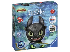 puzzle ball jak vycvicit draka 3 bezzubka 72 dilku