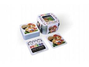 Pexeso zvyky a tradice voděodolné 64 karet v plechové krabičce