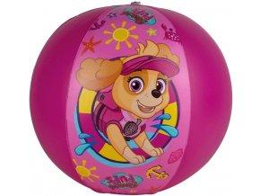 Nafukovací míč Tlapková patrola růžový 40 cm skladem