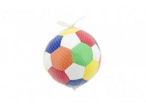Míč fotbalový barevný měkký průměr 15cm