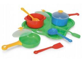 Party World - Tác s nádobím plast 11ks Wader 28x28x10cm