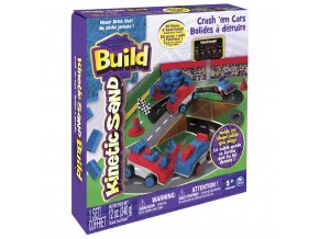 Kinetic Sand BUILD - Bourej se svými auty skladem
