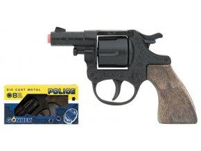 Policejní revolver kovový černý 8 ran skladem