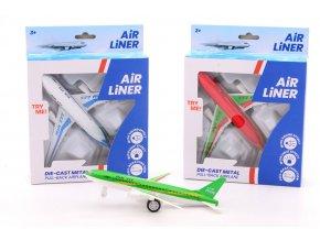 Letadlo kovový model se světlem a zvukem SKLADEM