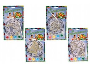 Sluneční dekorace 3D nové motivy asst na kartě 17x19cm