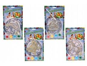 Sluneční dekorace 3D nové motivy mix z na kartě 17x19cm